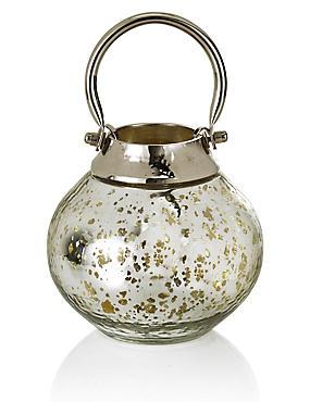 Laterne aus Metall und Glas mit Quecksilbereffekt, , catlanding