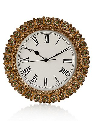 Emerald Burst Clock, , catlanding