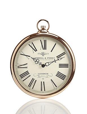 Classic Fob Wall Clock, COPPER, catlanding