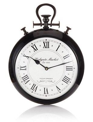 Metal Fob Wall Clock, , catlanding