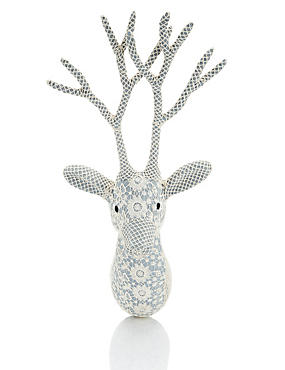 Lace Stag Head Wall Art