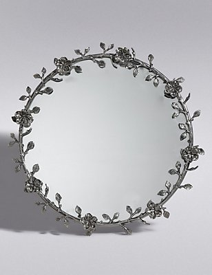 Antique Wreath Wall Mirror, , catlanding