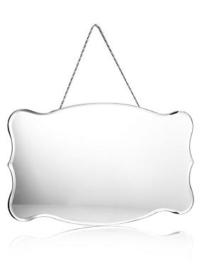 Small Vintage Style Hanging Mirror, , catlanding