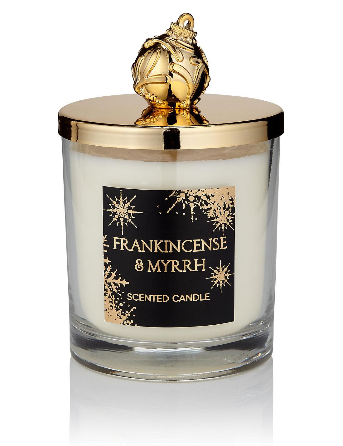 Frankincense & Myrrh Lidded Scented Filled Candle   M&S