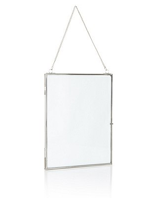 Hanging Photo Frame 20 x 25cm (8 x 10inch), SILVER, catlanding