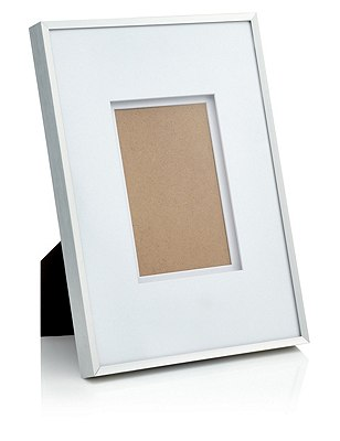 Essential Metal Photo Frame 10 x 15cm (4 x 6''), SILVER, catlanding