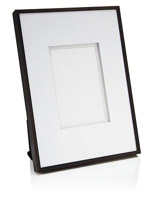 Essential Metal Photo Frame 10 x 15cm (4 x 6''), BLACK, catlanding