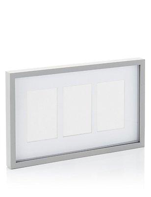 3 Aperture Photo Frame 10 x 15cm (4 x 6inch), GREY, catlanding