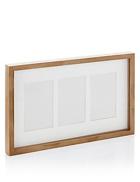 Fotolijst met 3 uitsparingen (10 x 15 cm), NATUREL, catlanding