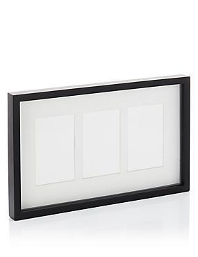 Fotolijst met 3 uitsparingen (10 x 15 cm), ZWART, catlanding