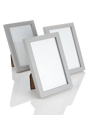 3 Photo Frames 10 x 15cm (4 x 6''), GREY, catlanding
