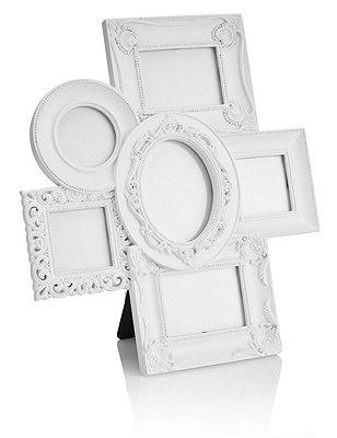 Multi-Aperture Photo Frame, WHITE, catlanding