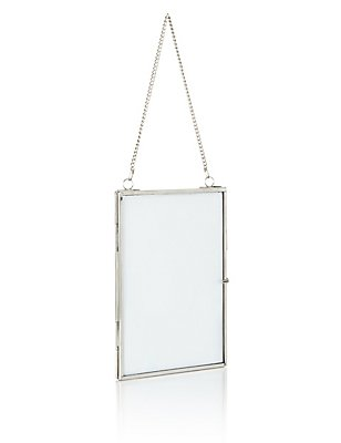 Hanging Photo Frame 13 x 18cm (5 x 7inch), SILVER, catlanding