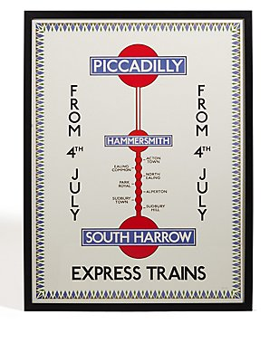 TFL Piccadilly Express Trains Wall Art, , catlanding