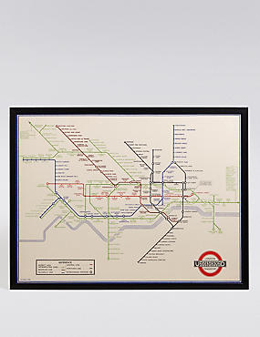 TFL London Underground Map Wall Art, , catlanding