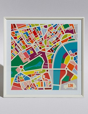 London Map Wall Art, , catlanding