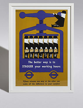 TFL Stagger Working Hours Wall Art, , catlanding