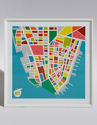 New York City Map Wall Art, , catlanding