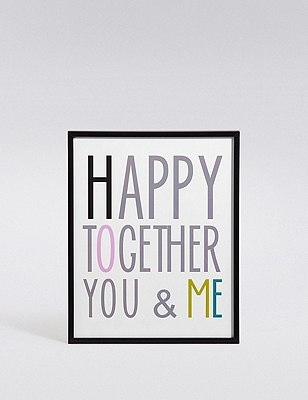 Happy Together You & Me Wall Art, , catlanding