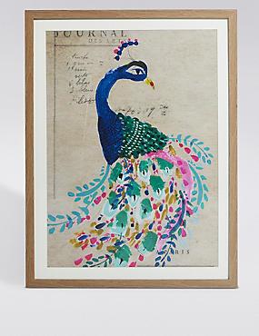 Painted Peacock Wall Art, , catlanding