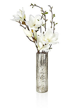 Artifical Magnolia Crackle Vase, , catlanding