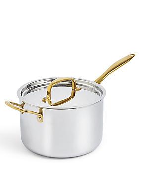 Chef Tri Ply 20cm Saucepan, SILVER MIX, catlanding