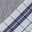 4 Pack Assorted Design Tea Towels, BLUE/WHITE, swatch
