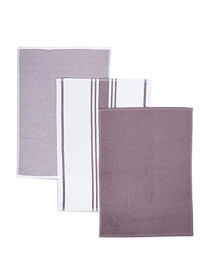 3 Pack Assorted Hand Towels, LILAC, catlanding