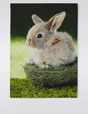 Spring Bunny Digital Tea Towel, , catlanding