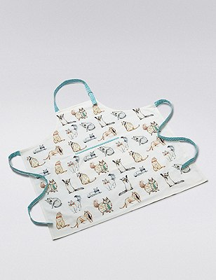 Assorted Cat Print Apron, , catlanding