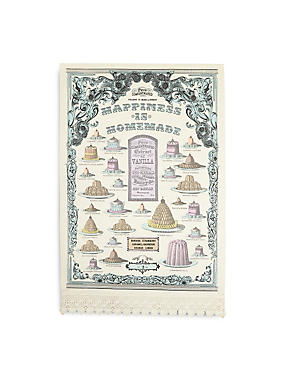 Vintage Bake Happiness Tea Towel, , catlanding