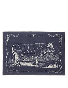 Butchers Print Tea Towel, , catlanding