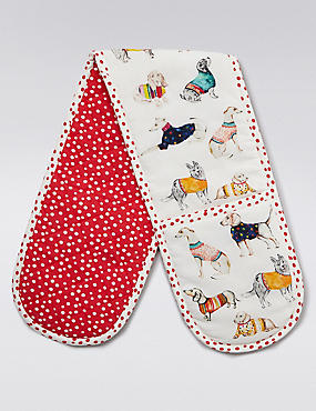 Animal Print Double Oven Gloves, , catlanding