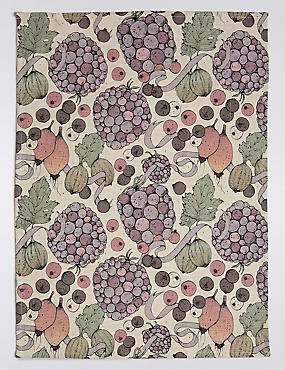 Fruits Print Tea Towel, , catlanding