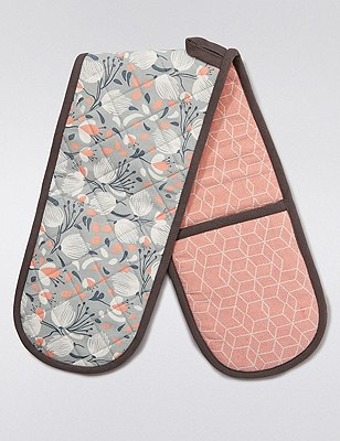 Abstract Print Oven Gloves, , catlanding