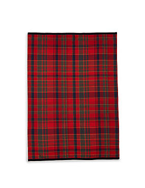 Cotton Rich Tartan Tea Towel, , catlanding