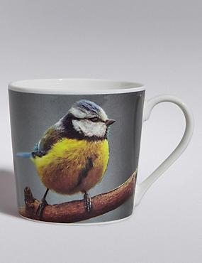 Digital Wild Bird Print Mug, , catlanding