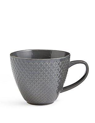 Textured Diamond Charcoal Mug, , catlanding