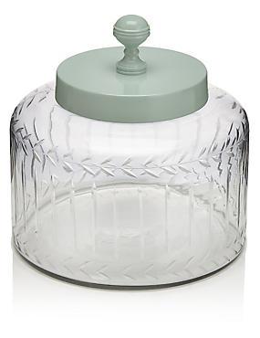 Vintage Glass Large Jar, , catlanding