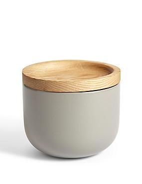 Loft – Petit pot de rangement en céramique, GRIS ASSORTI, catlanding