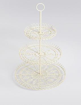Wire 3 Tier Cake Stand, , catlanding