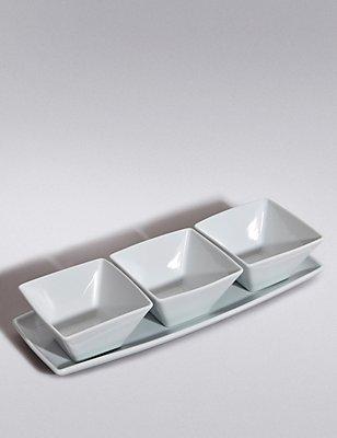 3 Pack Maxim Dip Bowl with Platter, , catlanding