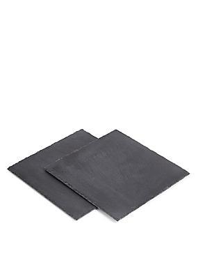 Lot de 2sets de table carrés en ardoise, , catlanding