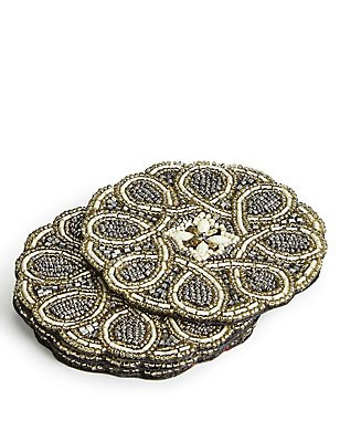 4 Pack Beaded Coasters , , catlanding