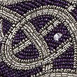 Beaded Placemat, PLUM MIX, swatch