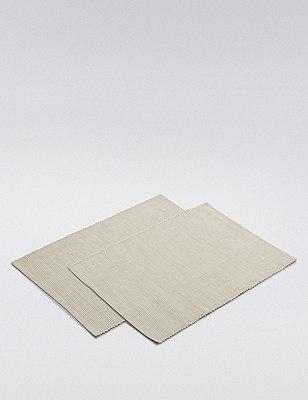 Rib Woven Placmat 2Pk, NATURAL, catlanding