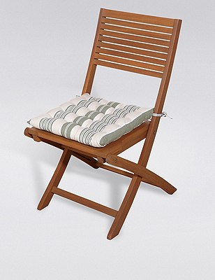 Modern Stripe & Quilted Seat Pad, , catlanding