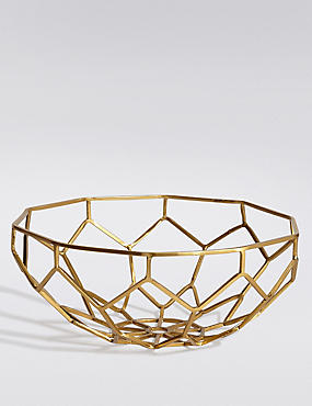 Metal Ornate Fruit Bowl, , catlanding