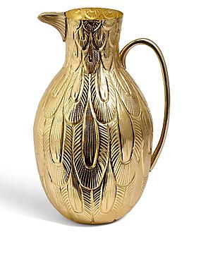 Embossed Brass Bird Jug, , catlanding
