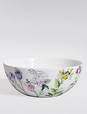 Spring Blooms Cereal Bowl, , catlanding